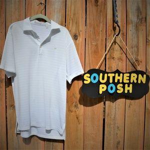 Peter Millar Striped Men's Polo shirt Medium
